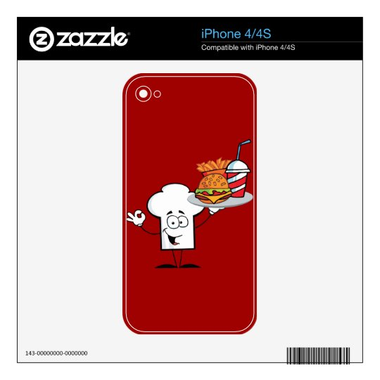 Chefs Hat Character Skins For iPhone 4
