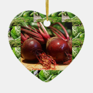 Chefs healthy food cuisine Beetroot Juices Salads Ceramic Ornament