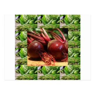 Chefs healthy food cuisine Beetroot Juices Salads Postcard