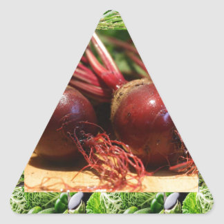 Chefs healthy food cuisine Beetroot Juices Salads Triangle Sticker