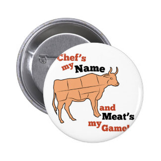 Chef's My Name 2 Inch Round Button