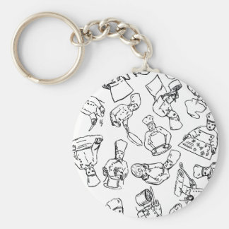 Chefs, Pastry Chefs and Cooks Keychain