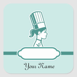 Chef's Personalized Large Labels Stickers