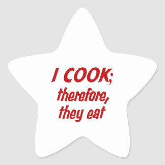 Chef's Philosophy - Choose Your Background Color Star Sticker