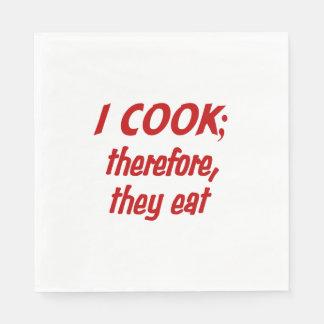 Chef's Philosophy Napkin