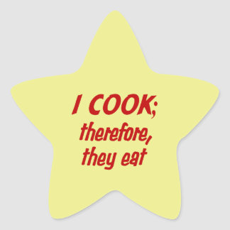 Chef's Philosophy - Red and Yellow Star Sticker