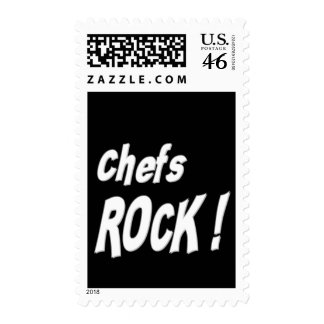 Chefs Rock Postage Stamps