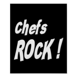 Chefs Rock Poster Print