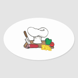 CHEFS TABLE OVAL STICKER