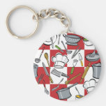 Chefs Tools Checkerboard Key Chains
