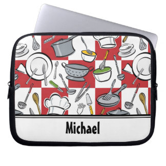 Chefs Tools Checkerboard Laptop Sleeve