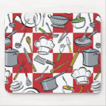 Chefs Tools Checkerboard Mouse Pad