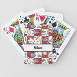 Chefs Tools Checkerboard Poker Cards