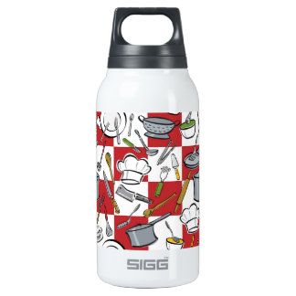 Chefs Tools Checkerboard Thermos Bottle