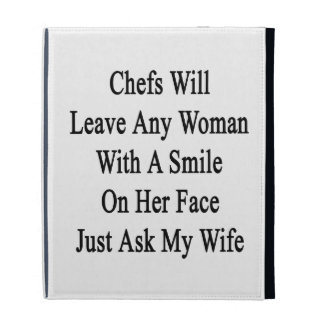 Chefs Will Leave Any Woman With A Smile On Her Fac iPad Case