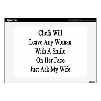 Chefs Will Leave Any Woman With A Smile On Her Fac Laptop Decal