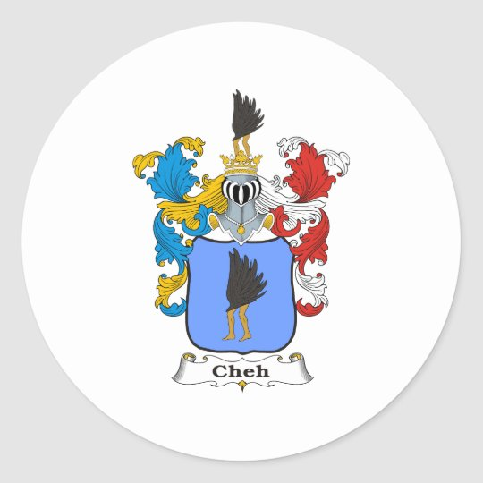Cheh 4 Family Hungarian Coat of Arms Classic Round Sticker