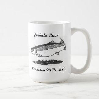 Chehalis river salmon coffee mug