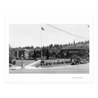 Chehalis WA Town View and Civic Center Post Card