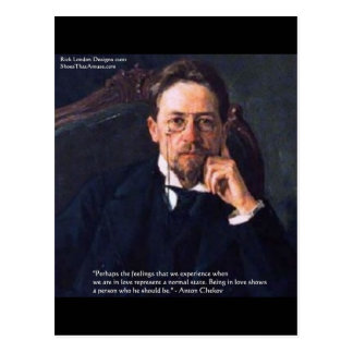 """Chekhov """"Love Normal State"""" Quote Gifts Tees Cards"""