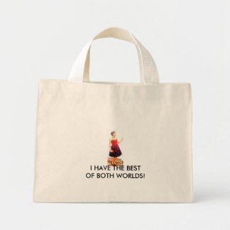 chelby2, I HAVE THE BEST OF BOTH WORLDS! Mini Tote Bag