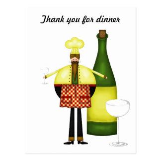 Chelf le agradece por postal de la cena
