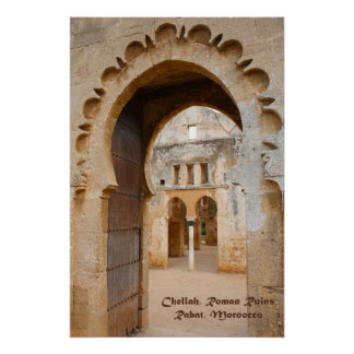 Chellah Ancient Ruins, Morocco Poster