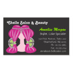 Chelle Salon - Pink Hair and Black Business Cards