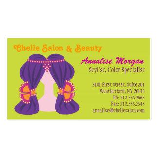 Chelle Salon - Purple Hair/Lime Business Cards