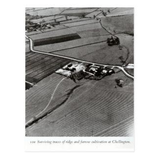 Chellington, ridge and furrow farming postcard