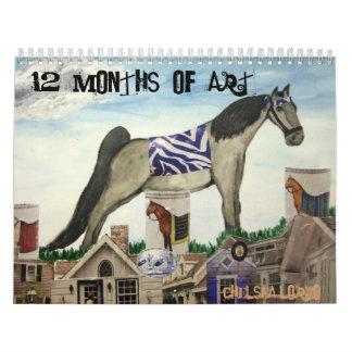 chelsea 042, 12 meses de arte, Chelsea Lorio Calendarios De Pared
