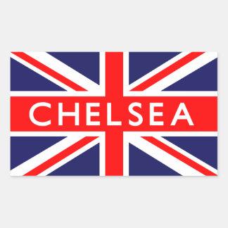 Chelsea: Bandera británica Pegatina Rectangular