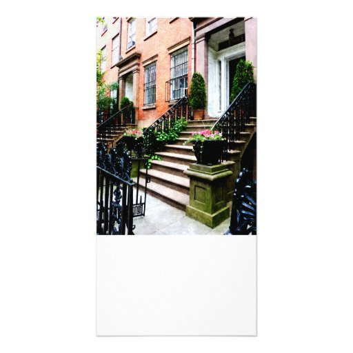 Chelsea Brownstones Customized Photo Card