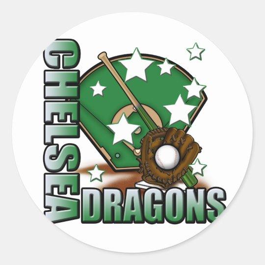 Chelsea Dragons Baseball Classic Round Sticker