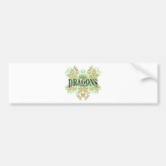 Chelsea Dragons (curl tribal) Bumper Sticker