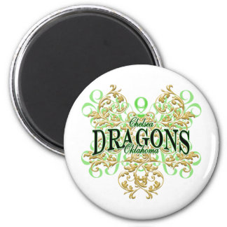 Chelsea Dragons (curl tribal) Magnet