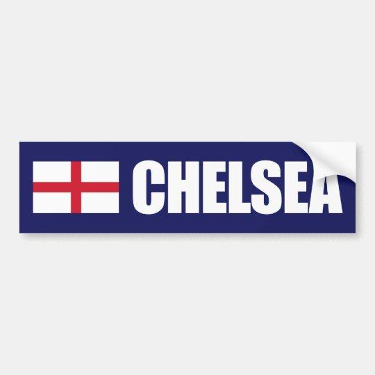 Chelsea England Flag Bumper Sticker
