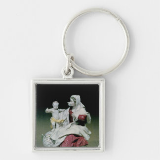 Chelsea figure of Madonna and Child Keychain
