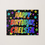 "[ Thumbnail: ""Chelsea"" First Name, Fun ""Happy Birthday"" Jigsaw Puzzle ]"