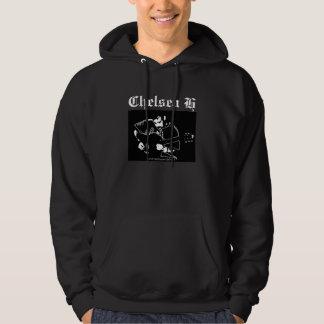Chelsea H Black Sweater Hooded Sweatshirt