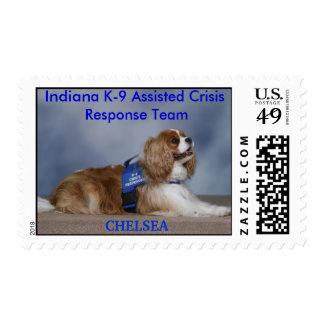 CHELSEA, Indiana K-9... Postage