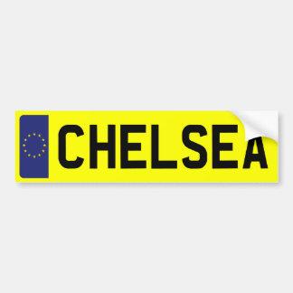 CHELSEA Number Plate Bumper Sticker