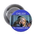 Chelsea para el presidente 2016 botón