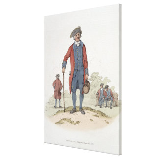 Chelsea Pensioner, from 'Costume of Great Britain' Gallery Wrapped Canvas