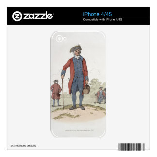 Chelsea Pensioner, from 'Costume of Great Britain' iPhone 4 Decal