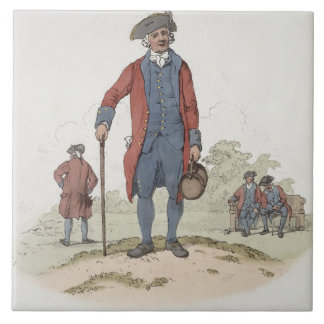 Chelsea Pensioner, from 'Costume of Great Britain' Tile
