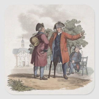 Chelsea Pensioners, Cavalry and Infantry, from 'Co Square Sticker