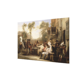 Chelsea Pensioners Receiving the Gazette Announcin Canvas Print