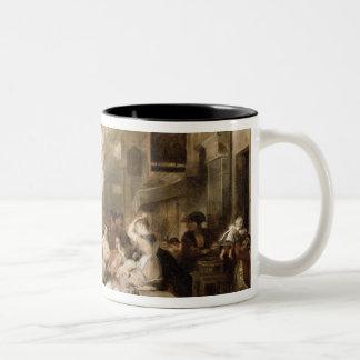 Chelsea Pensioners Receiving the Gazette Announcin Two-Tone Coffee Mug