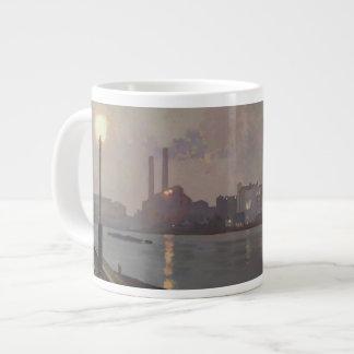 Chelsea Power Station by Night Large Coffee Mug